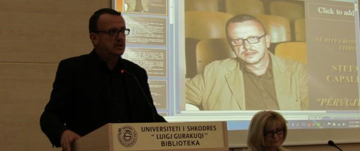 """""""Përvujtnija"""" e Stefan Çapalikut  në  Bibliotekën Universitare Shkodër"""